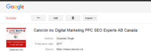 Cancron inc Digital Marketing PPC SEO Experts AB Canada