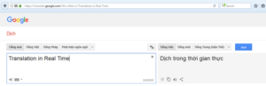 Translation in Real Time - Google Dich