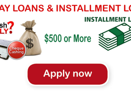 Emergency Cash Saviors – Payday Loans & Installment Loans