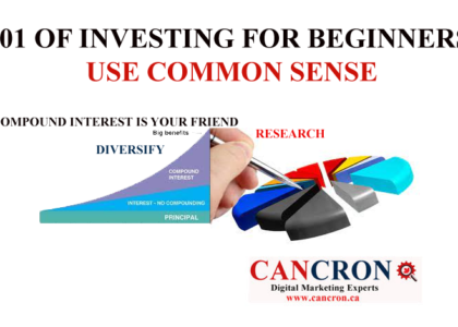 101 OF INVESTING FOR BEGINNERS : USE COMMON SENSE